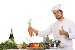 Young chef preparing lunch Stock Image