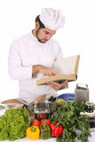 Young Chef Preparing Lunch Stock Photos