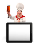 Young chef with tab Stock Photography
