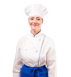 Young chef on a white background Royalty Free Stock Photo