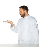 Young chef on white background. Royalty Free Stock Photography