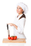 Young chef woman. Royalty Free Stock Images