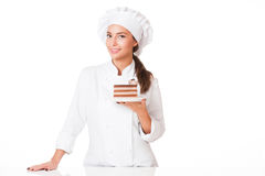 Young chef woman. Royalty Free Stock Photo