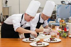 Free Young Chefs Prepare Dessert Dishes Royalty Free Stock Photo - 167869995