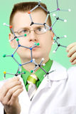 Young chemist Stock Images