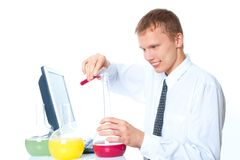 Young chemist Royalty Free Stock Image