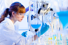 Young chemist in the laboratory. Stock Photo
