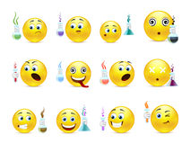 Young chemists smilies Royalty Free Stock Photos
