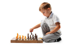 Young chess player Royalty Free Stock Photo