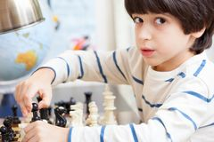 Young chess player Royalty Free Stock Photos