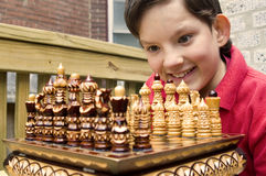 Young Chessmaster Glee royalty free stock image