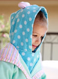 Young child in bathrobe Royalty Free Stock Photos