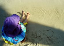 Young child at the beach Stock Photography