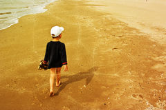 Young child on the beach Royalty Free Stock Image