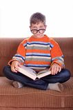Young child  with book Stock Images