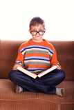 Young child with book Stock Image