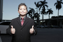 Young child businessman Stock Images
