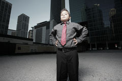 Young child businessman in the city Stock Image