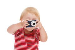 Young child with camera Royalty Free Stock Photo