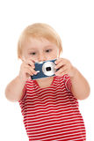 Young child with camera Stock Photos