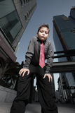 Young child in the city Royalty Free Stock Photography