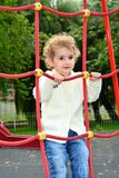 Young child climbing Royalty Free Stock Images