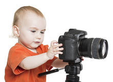 Young child with digital camera Stock Photography