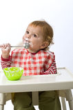 Young child eating Royalty Free Stock Photography