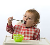 Young child eating Royalty Free Stock Photos