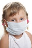 Young child girl in medical mask Stock Photo