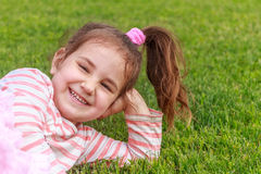 Young child girl on natural background Royalty Free Stock Photo