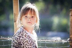 Young Child Girl Portrait Outside Stock Image