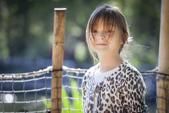Young Child Girl Portrait Outside Royalty Free Stock Image