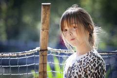 Young Child Girl Portrait Outside Royalty Free Stock Photos