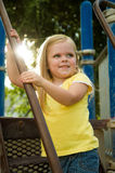 Young child having fun Stock Image