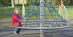 Young child having fun at the park. Stock Photography