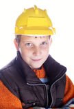 Young child in helmet Stock Image