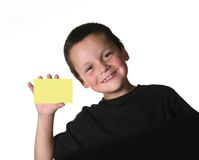 Young Child Holding Blank Sign Royalty Free Stock Image
