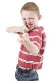 A young child with an imagination Royalty Free Stock Photos