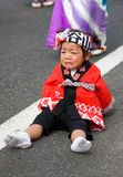 Young Child Japanese Festival Dancer crying Stock Photography