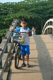 Young child with large bike
