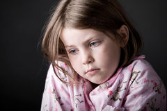 Young Child Looking Sad Stock Images
