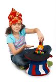 Young child-magician Stock Images