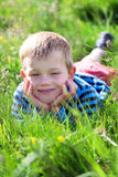 Young child in a meadow Royalty Free Stock Photo