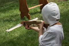 Young child medieval soldier Stock Photos