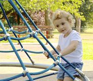 Young child at the playground. Stock Photo
