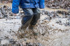 Playing in Mud royalty free stock photos