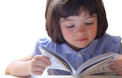 Young Child Reading Royalty Free Stock Image