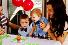 Young child's birthday Royalty Free Stock Image