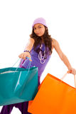 Young child  with shopping bags Royalty Free Stock Photography